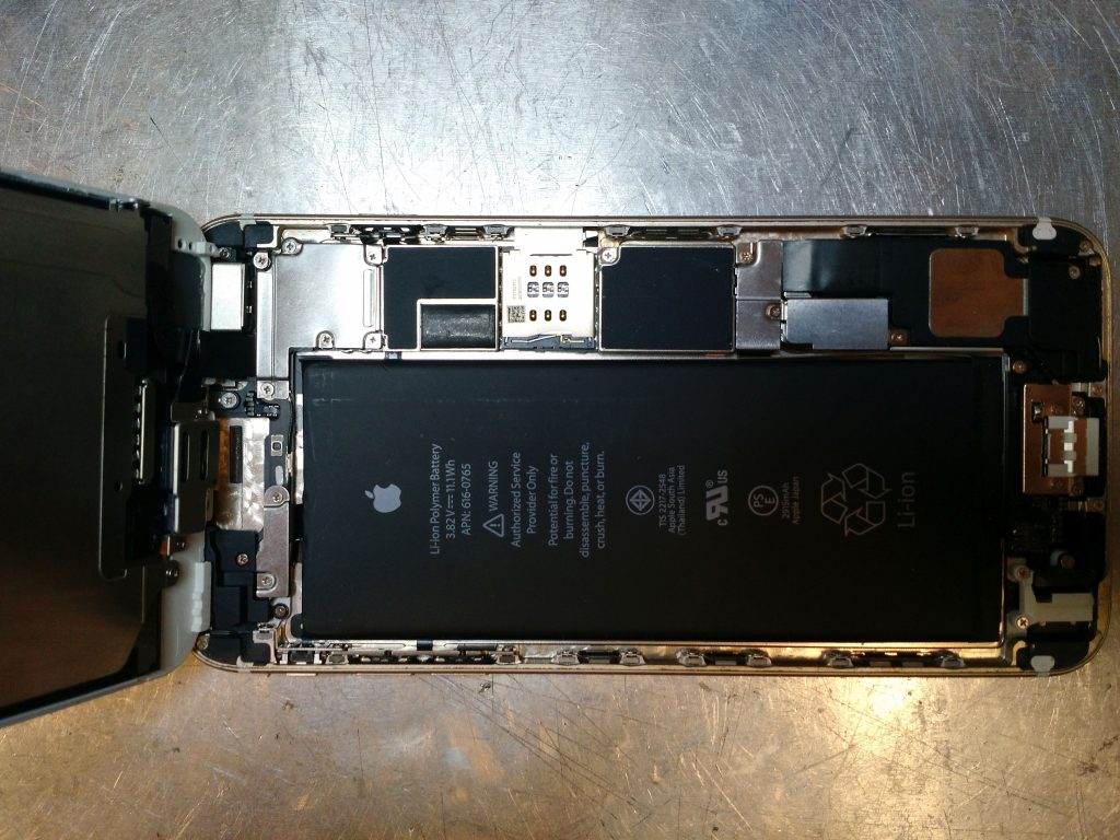 iphone internals with battery
